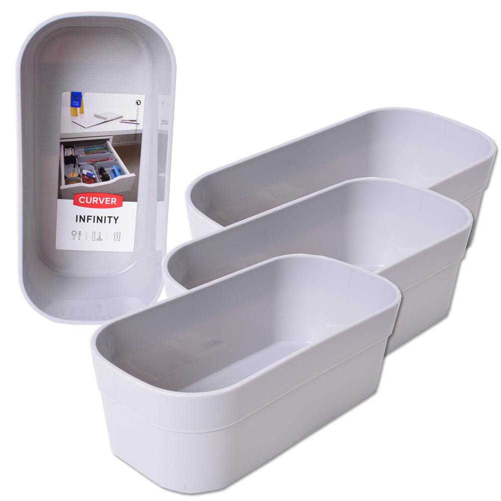 4 st ck curver infinity systembox schublade schreibtisch utensilien beh lter box grau rechteckig. Black Bedroom Furniture Sets. Home Design Ideas
