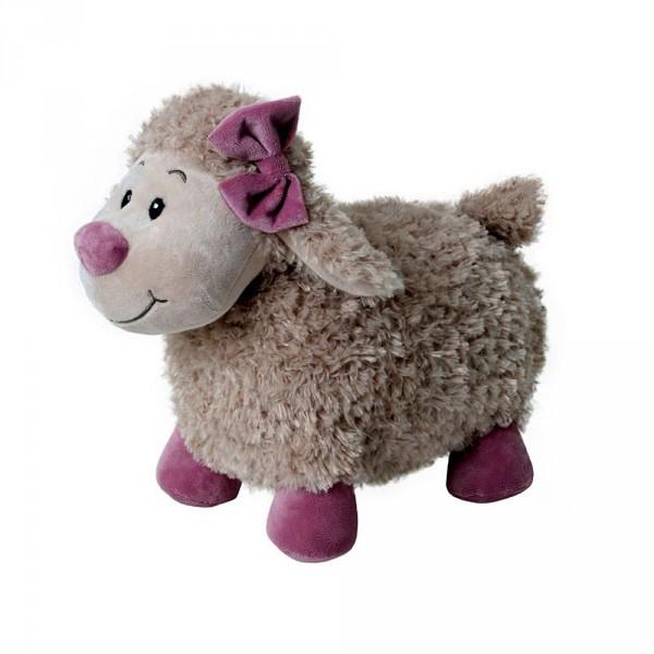 Giocattolo con del l'arco peluche Gwendolin farcito coccolo della giocattolo del giocattolo dell'agnello del TclFJK1